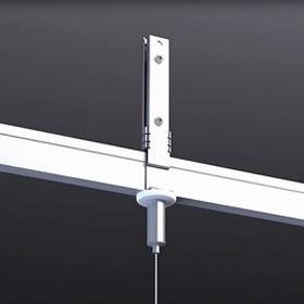 t grid clip for led suspending linear lighting