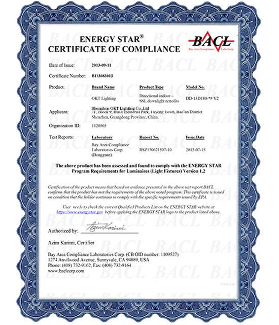 Energy Star For 6inch 13W LED Residential Downlight