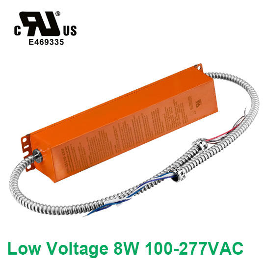 Low Voltage 8W 100-277VAC  LED Emergency Backup