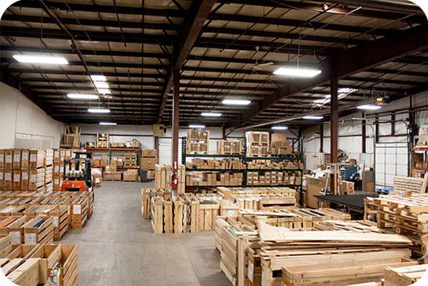 OKT T8 LED Tube Light in Warehouse and Retail Aisles