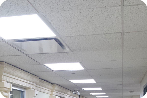 OKT 2x2ft Led Panel Light In Retail Store-Chicago, Illinois