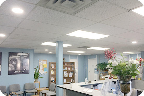 Led Panel Light And Commercial Downlight In Hospital In Canada