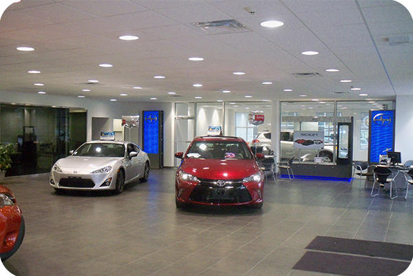 OKT 8inch 54w Led Commercial Downlight In Toyoto Car Dealer Shop In Connecticut