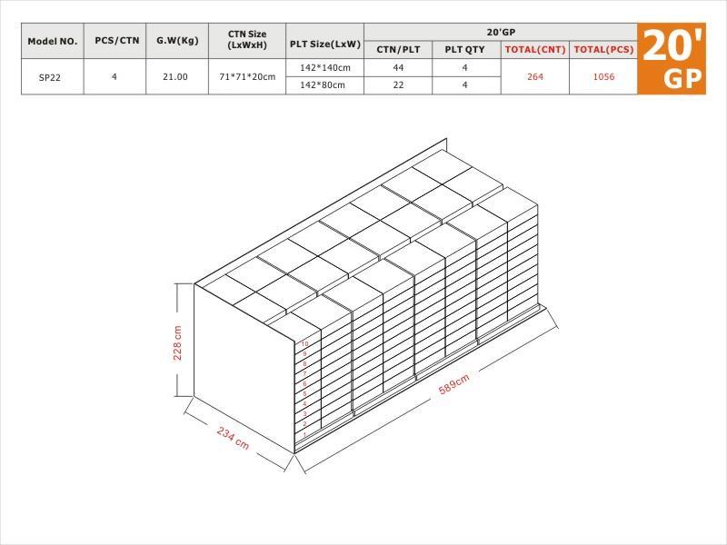 SP22 20'GP Load Plan