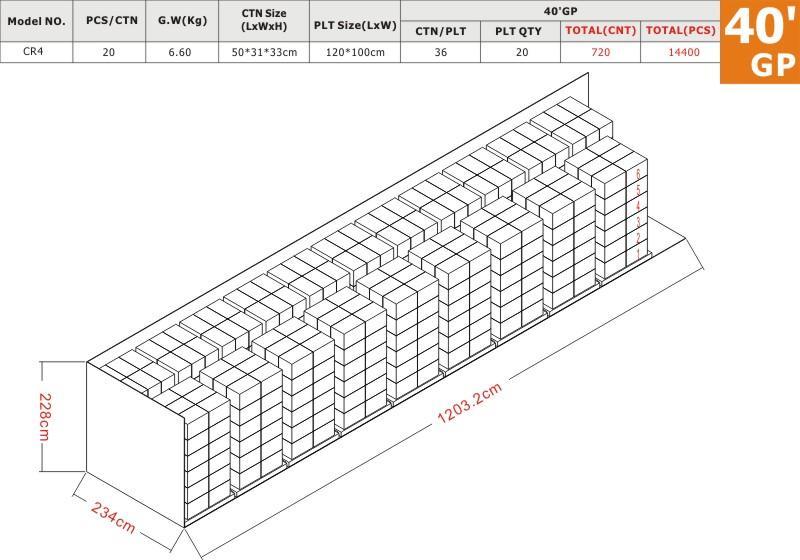 CR4 40'GP Load Plan