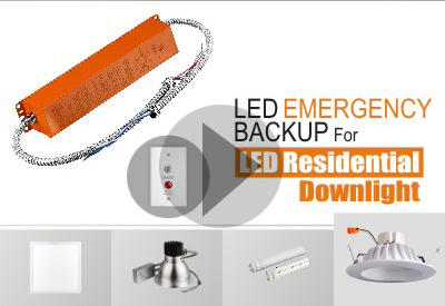 Installation Of LED Emergency Backup For 6Inch LED Residential Downlight