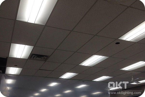 OKT Lighting 42W 2X4FT LED Troffer In Car Dealer Shop In Toronto