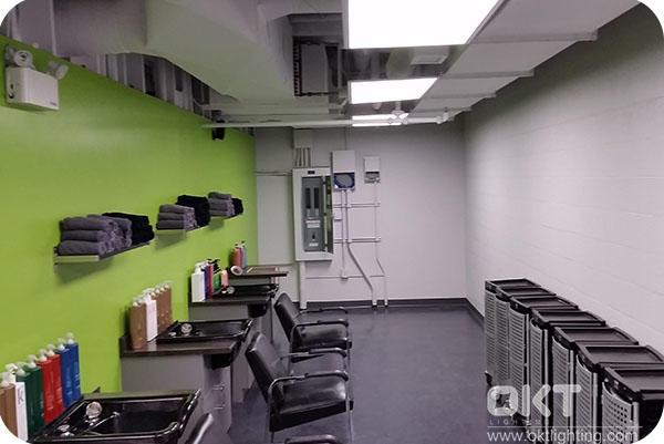 OKT Lighting Panel Lights Installed In The Hair Salon