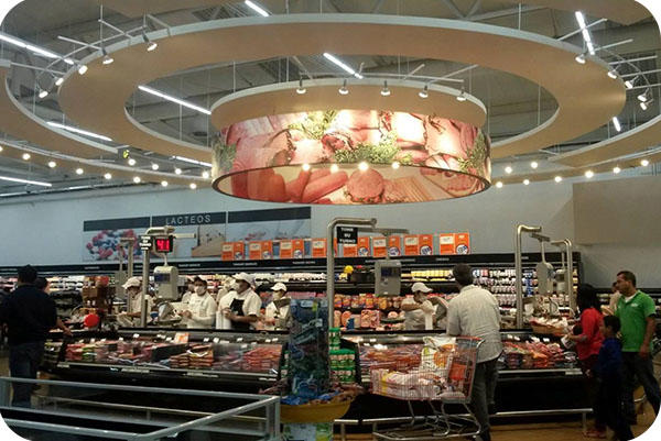 OKT Lighting T8 Tube In Supermarket In Mexico