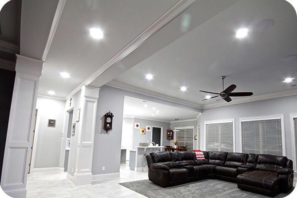 OKT 13w LED Retrofit Downlight in House - Louisiana, in 2014