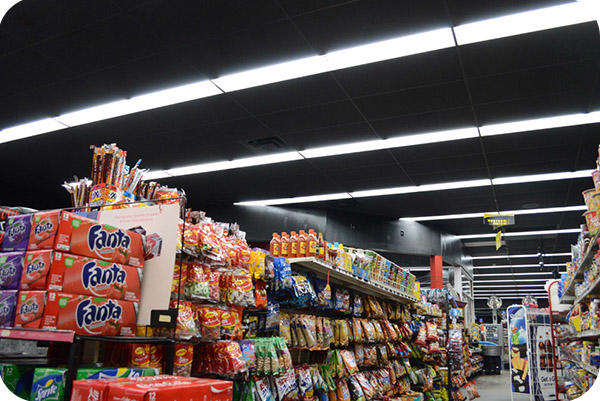 OKT LED Tube Light in Super Market - Houston, in 2014