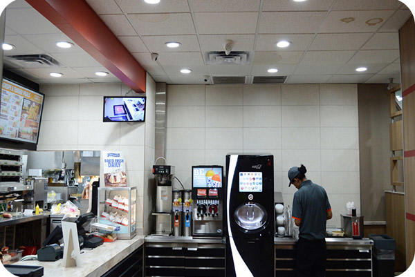 OKT 6inch Led Residential Downlight In Fast Food Shop In Houston