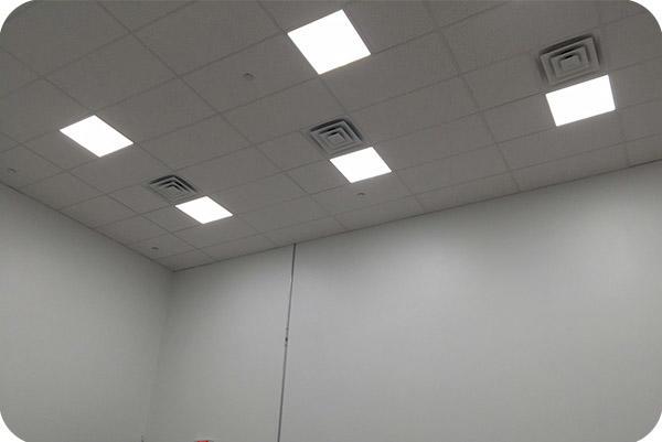 OKT 2X2FT Panel Light in office in New York in 2015