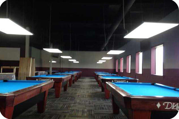 OKT 2X4FT LED Panel In Billiards Club In Canada