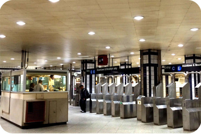 OKT Architectural LED Retrofit Downlight In New York Metro Station