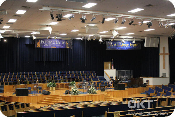 OKT Panel Light Installed In Upper Room Church Of God In Christ In NC
