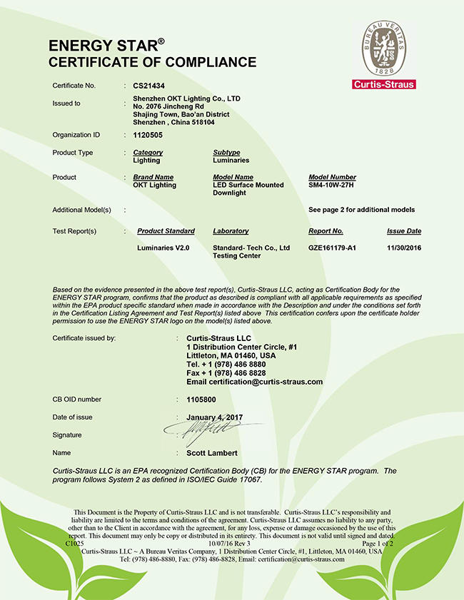 Energy star for 4inch Surface Mounted Retrofit Downlight