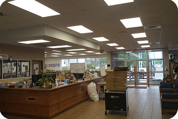 OKT 2' x 4' Led Flat Ceiling Panel For Community Library Hall