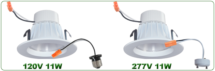 4inch 9W and 11W Retrofit LED Downlight Kits