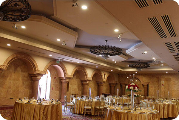 OKT Retrofit LED Downlight in Ballroom - LA