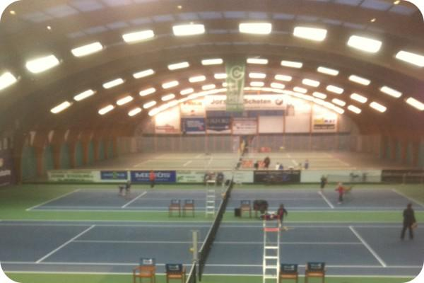 OKT T8 LED Tube in Tennis Court - Antwerp, Belgium
