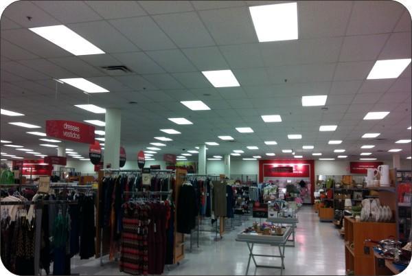 OKT 2x4FT LED Dimmable Panel Light in Supermarket - New York,USA