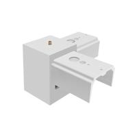L pattern joiner for led linear pendant light fixtures
