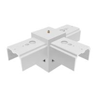 T pattern joiner for led linear pendant light fixtures