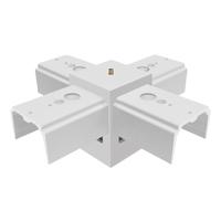 X pattern joiner for led linear pendant light fixtures