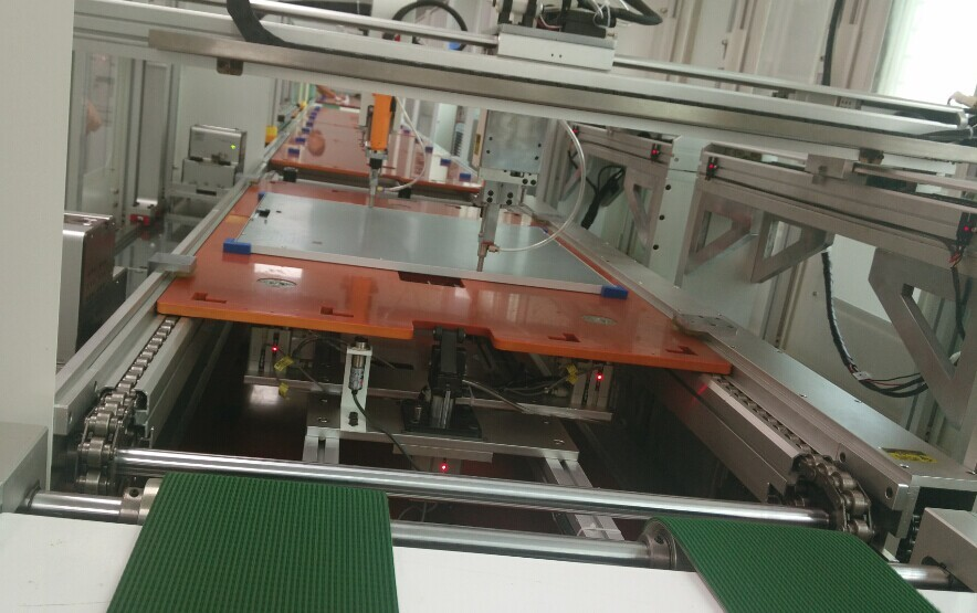 semi-automatic assembly line for LED flat panel