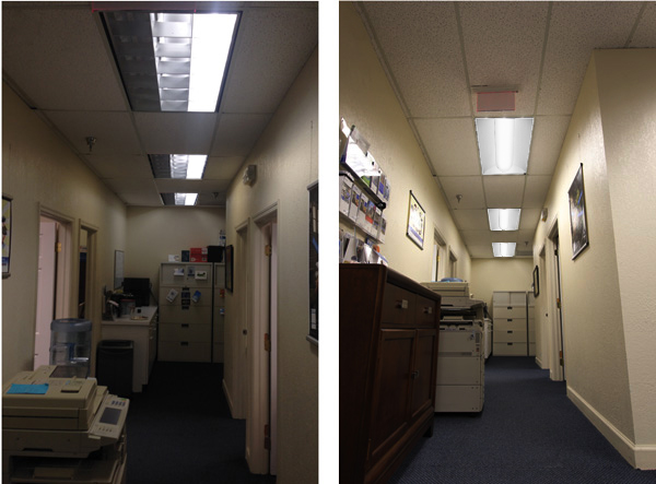 retrofit fixture repacement fluorescent lights
