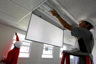 indirect ceiling retrofit fixture