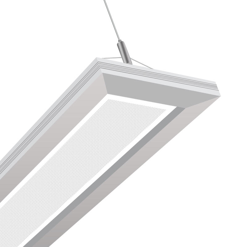8inch x 8ft Up/Down Pendant Linear Panel Light