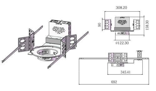 4 inch housing frame for led downlight
