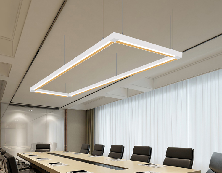 suspended linear light fixture