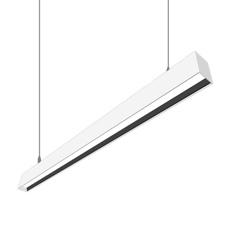 LED Linear Pendant Light Fixtures - Regressed Lens