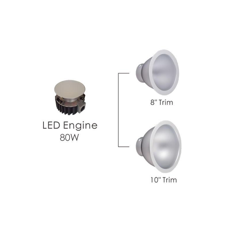 347V 80W Commercial LED Downlight