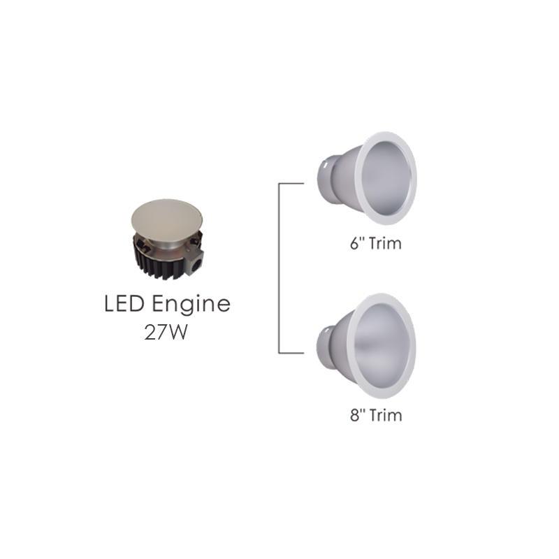 347V 27W Commercial LED Downlight