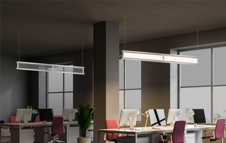 suspended led lighting fixtures
