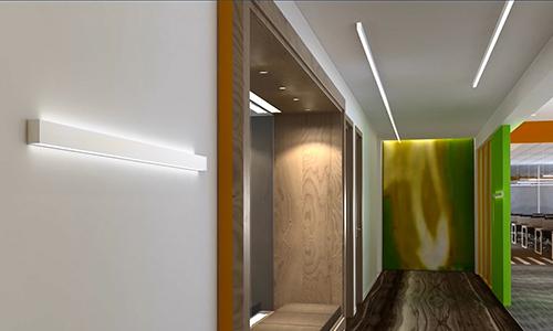 led wall linear light