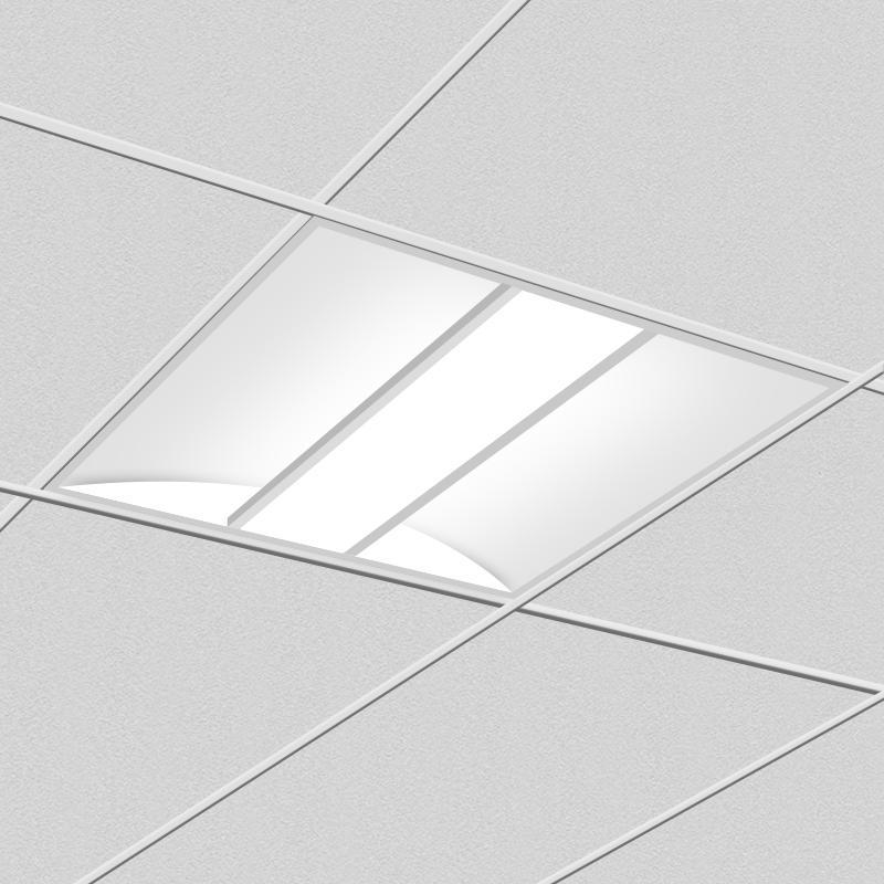 Indirect LED Troffer Light 2x2